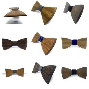 NWT Bulk Lot of 99 Wooden Bow Ties